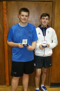 Under 18 Boys finalists - Harry Keys (left) and winner Daniel Young (right)